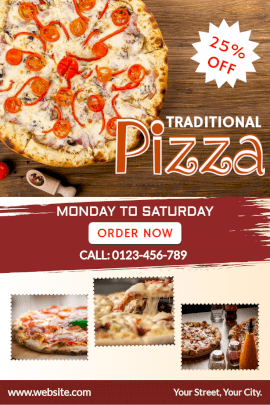 Online Editable Pizza Sale Pinterest Graphic