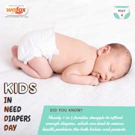 Online Editable Kids In Need Of Diapers (K.I.N.D) Day May 4 Instagram Post