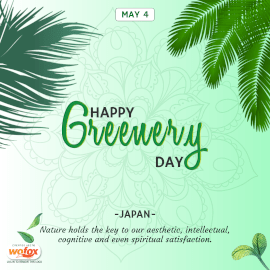 Online Editable Happy Greenery Day in Japan May 4 Instagram Post