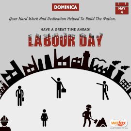 Online Editable Labor Day (May Day) in Dominica Instagram Post