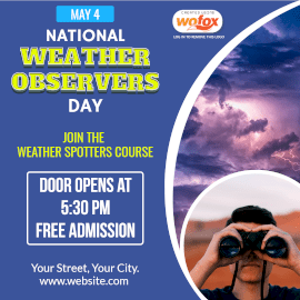 Online Editable National Weather Observers Day May 4 Instagram Post