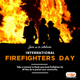 Online Editable International Firefighters' Day May 4 Social Media Post