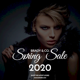 Online Editable Spring Sale 2020 Instagram Post