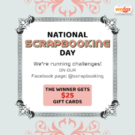 Online Editable National Scrapbooking Day Instagram Post