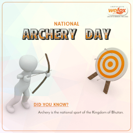 Online Editable National Archery Day Social Media Post