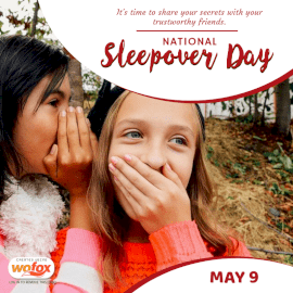 Online Editable National Sleepover Day May 9 Social Media Post