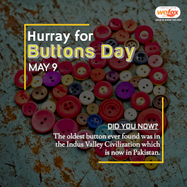 Online Editable Hurray for Buttons Day May 9 Instagram Post