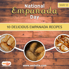 Online Editable National Empanada Day Recipes May 8 Instagram Post