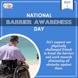 Online Editable National Barrier Awareness Day May 7 Instagram Post