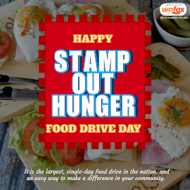 Online Editable Stamp Out Hunger Food Drive Day Instagram Post