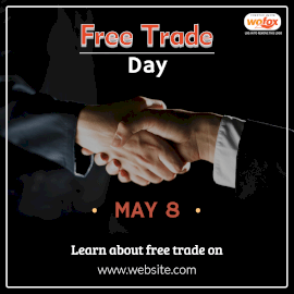 Online Editable Free Trade Day May 8 Instagram Post
