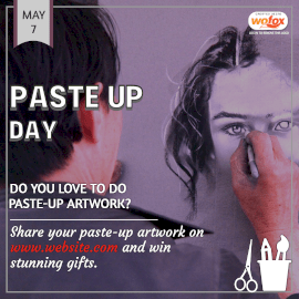Online Editable National Paste Up Day May 7 Instagram Post