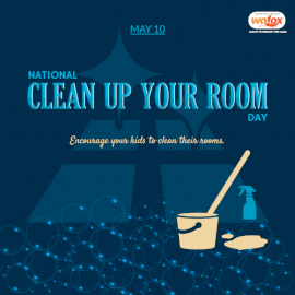 Online Editable National Clean Up Your Room Day May 10 Social Media Post