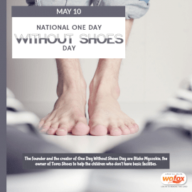 Online Editable One Day Without Shoes Day May 10 Social Media Post