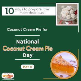 Online Editable National Coconut Cream Pie Day in United States May 8 Instagram Post
