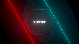 Online Editable Neon Spin Around Effect Subscribe Logo Outro