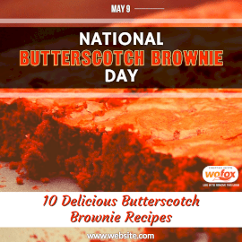 Online Editable National Butterscotch Brownie Day in United States May 9 Instagram Post