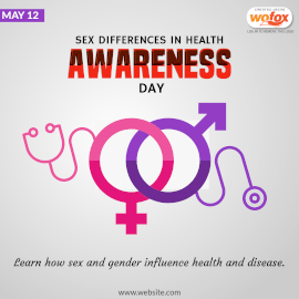 Online Editable Sex Differences in Health Awareness Day Instagram Post