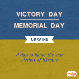 Online Editable Victory Day / Memorial Day in Ukraine May 9 Instagram Post
