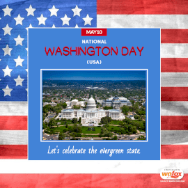 Online Editable National Washington Day (USA) May 10 Instagram Post