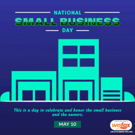 Online Editable National Small Business Day May 10 Social Media Post
