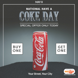 Online Editable National Have a Coke Day May 8 Social Media Post