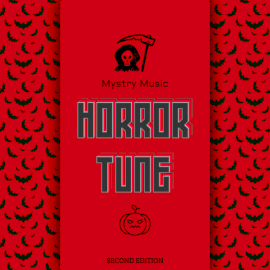 Online Editable Red and Black Horror Tune CD Cover