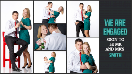 Online Editable Engagement Photo Shoot 6 Grid Photo Collage