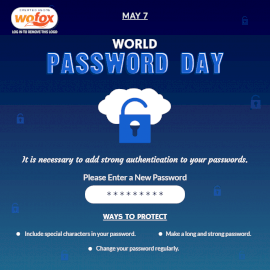 Online Editable World Password Day May 7 Social Media Post