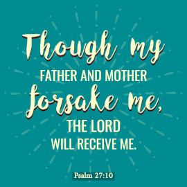 Online Editable Psalm 27:10 Bible Verse Instagram Post