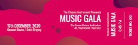 Online Editable Vivid and Dark Pink Music Show Ticket