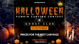 Online Editable Halloween Party with Zombie Eye Font Facebook Event Cover