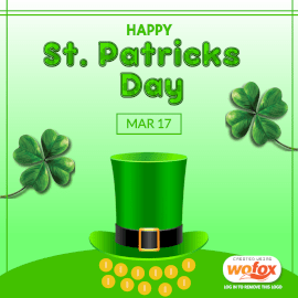 Online Editable Happy Saint Patrick's Day March 17 Instagram Post