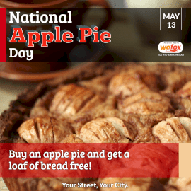 Online Editable National Apple Pie Day in United States May 13 Instagram Post