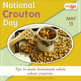 Online Editable National Crouton Day May 13 Instagram Post