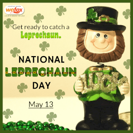 Online Editable Leprechaun Day May 13 Instagram Post