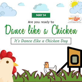 Online Editable Dance Like a Chicken Day May 14 Instagram Post