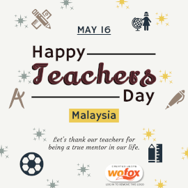 Online Editable Teachers' Day in Malaysia May 16 Instagram Post