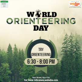 Online Editable World Orienteering Day Instagram Post