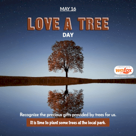 Online Editable Love a Tree Day May 16 Social Media Post