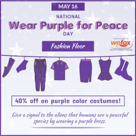 Online Editable National Wear Purple for Peace Day May 16 Instagram Post