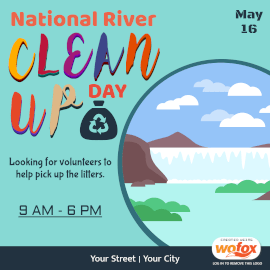 Online Editable National River Cleanup Day Instagram Post