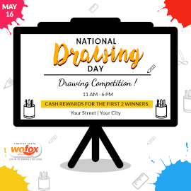 Online Editable National Drawing Day Instagram Post