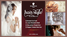 Online Editable Wedding Hairstyles for Women 4 Grid Photo Collage