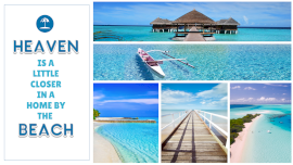 Online Editable Beach Resorts Quotes for 4 Grid Photo Collage