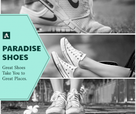 Online Editable Paradise Running Shoes 3 Grid Photo Collage