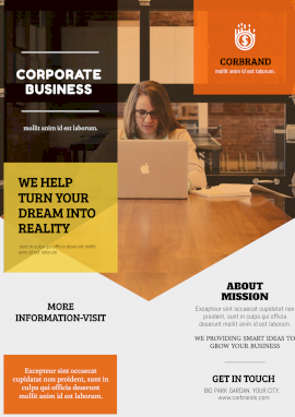 Online Editable Corporate Business Company Poster