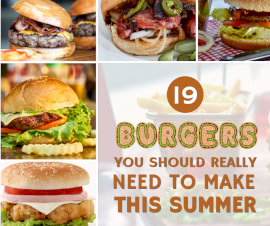 Online Editable 19 Burger Varieties for Summer 5 Grid Photo Collage