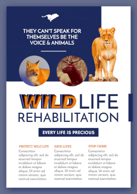 Online Editable Wildlife Rehabilitation and Rescue Flyer
