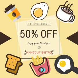 Online Editable Breakfast Offers at Bistro GIF Post